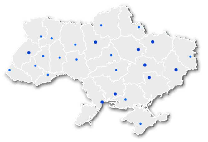 Map of location of Representatives
