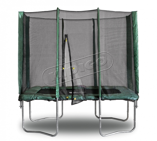 Прямоугольный батут KIDIGO™ 215 х 150 см. с защитной сеткой - фото 1