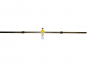 Game rod 13 mm with goalkeeper