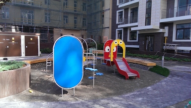 "Наша работа - Exclusive playground structures ""Paris"" - Residential development at Pechersk"