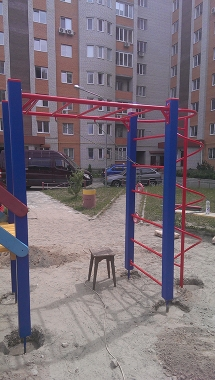 Наша работа - Post-construction installation of the playground - Residential development in town Bucha