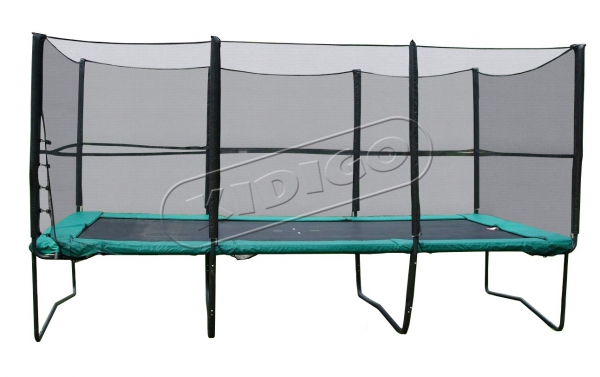 Прямоугольный батут KIDIGO™ 457х305 см. с защитной сеткой + лестница