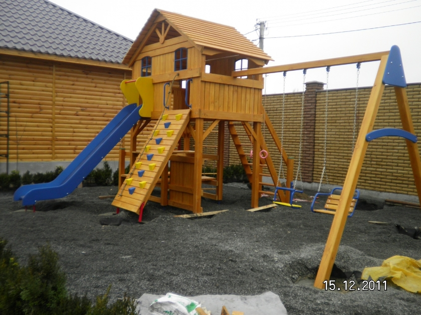 "Наша работа - Playground structures ""Dacha"" - Kiev district, village Oseshchina"
