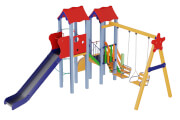 Playground complex Avalon, with a metal slide H 1,5 m