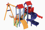 Playground complex Avalon with a plastic slide H 1,5 m